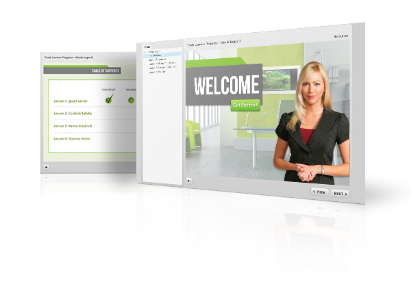 Articulate Storyline Elearning Templates – Progress Tracker
